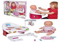 Nenuco Highchair Eat Baby Doll Ages 3+ Toy Girls High Chair Bath Food Highchair