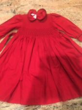 Beautiful Pervenche Red Black Smocked Girls 2 2t Christmas Holiday