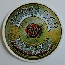 Round Multicolor American Beauty With Rose Sticker Decal Music Embellishment