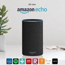 All-new Amazon Echo (2nd Generation) Wireless Alexa Speaker -Charcoal Fabric-NEW