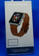 Platinum Apple Watch Genuine Leather Band 38mm |Brown| *FREE SHIP*