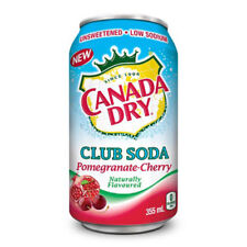 Canada Dry Club Soda Pomegranate Cherry Unsweetened No Calories 355 ml Can New