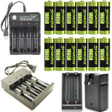 USA 18650 Battery 3.7V Li-Ion Rechargeable Batteries For Flashlight Headlamp