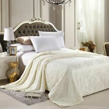 Silk Blanket Comforter Throws For Home Bedroom Textile Linens Quilted Bedspreads