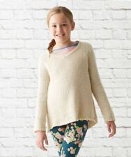 NWT Matilda Jane Just Chilling Sweater Tunic Beige V-neck 435 Tween Size 10