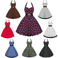 Hearts And Roses London Polka Dot 1950s Rockabilly Pinup Party Swing Prom Dress