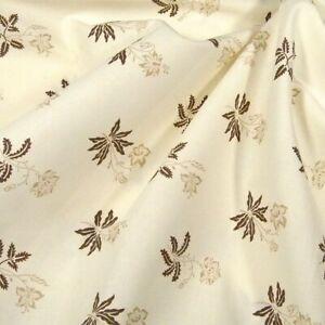 A Robert Kaufman Cotton Fabric, Elegant & Understated Brown on Cream BTY