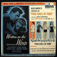 SOUNDTRACKS written on the wind / four girls in town LP VG DL 8424 Mono Vinyl