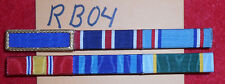 RB04 two ribbon bars for a total of 6 ribbons, good conduct, pres unit citation
