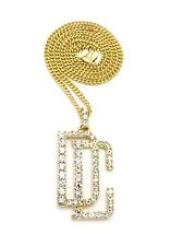 ICED OUT MINI DREAMCHASERS DC CUBAN LINK GOLD CHAIN PENDANT NECKLACE MEEK MILL