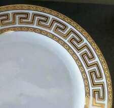 Yamasen Serving Plate and Cutter, Greek Key,Gold Accents