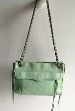 Rebecca Minkoff Gorgeous New Swing Pale Green Soft Leather 2-Way Medium Handbag