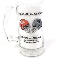 1996 Kansas City Chiefs Glass Mug Stein Arrowhead vs Raiders 3rd Red Friday Bud
