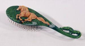 Hand Painted Art Hair Brush Horse Design Yellow Mane A006Y