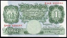 B260 PEPPIATT 1948 £1 BANKNOTE * S94A 228684 * FIRST SERIES * UNC *