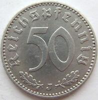 Superior! 50 Reichspfennig 1941J En Extremely fine