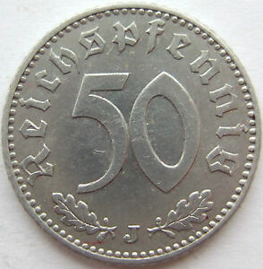 50 Reichspfennig 1941 J in Vorzüglich !!!