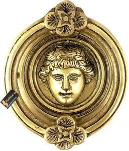 Set of 2 Athena Design Brass Door Knocker Set Antique Yellow