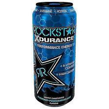 12 DOSES A 0,5 L Rock Star Energy X-Durance entendent consigne de rock star aux bleuets