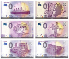 Irish Commemorative 0 Euro Limited Edition Souvenir Banknote Set of 6 Notes