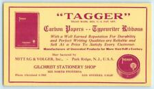 "Advertising Blotter Gilchrist Stationery Shop Los Angeles ""Tagger"" Carbon Paper"