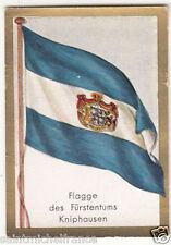 N172 FLAG DRAPEAU BANNER FAHNE PRINCIPALITY Herrschaft Kniphausen GERMANY CHROMO