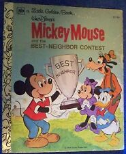 (LES5) 1977 USA little golden book Mickey Mouse ED134