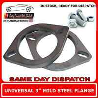 """2 x 3"""" inch Flanges for Exhaust Pipe Joint Repair Flange + bolts Pair of 3"""" 77mm"""