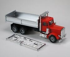 HO 1/87 Promotex/Herpa # 6252 Peterbilt Dual Axle Dump Truck -  Red