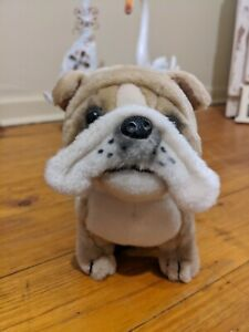 Bulldog Plush Toy Realistic Collectables 16cm Tall