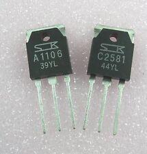 Transistor:Power: 2SA1106 / A1106 & 2SC2581 / C2581 : 1 pair ( 1 each )