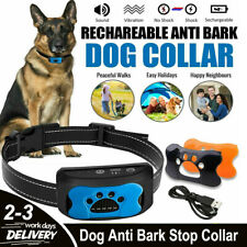 More details for dog anti bark stop collar barking sound & vibration adjustable s/m/l 3 shell zu
