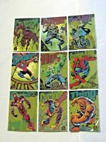 1994 MARVEL UNIVERSE SERIES 5 GOLD POWERBLAST INSERT 9 CARD SET POWER BLAST RARE