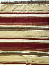 Pottery Barn Linen Blend Striped Shower Curtain 68x70 Tan Rust Red Southwest
