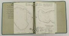 Vintage Binder of 19 Lake Maps The Clarkson Company Northern Wisconsin Fish 00004000 ing