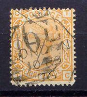 GB 1876 QV 8D darkorange Wmk. Large Garter Plate 1 (TC) VFU (S.G. 156 GBP 350.-)