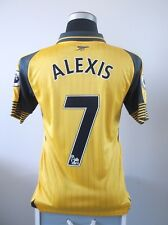 ALEXIS #17 Arsenal Away Football Shirt Jersey 2016/17 (S)