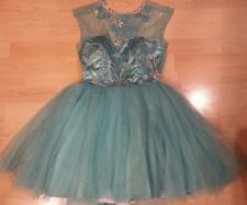 Women's Teen's Glittery Beaded Prom Formal Dress Debut Evening Cocktail Size S