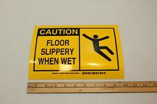 Brady 122696 Adhesive 10 X 7 Safety Sign Caution Floor Slippery When Wet