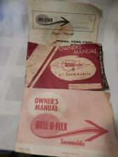 Vtg The Wild One Roll-o-Flex Snowmobile Manuals Owners Operators Engine