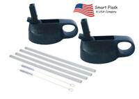 Smart Flask Straw Lid,  2 pack, Fits Wide mouth, 18,32,40oz, Hydro Flask etc.