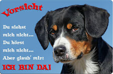 APPENZELLER Sennenhund - A4 Alu Metall Warnschild Hundeschild SCHILD - AZS 05 T2