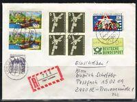 BRD, Einschreiben MiF Lonsee, Vollstempel nach Lübeck-Travemünde 04.03.1986
