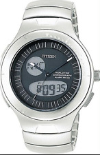 CITIZEN MEN'S WATCH ALL S/S  JU0010-55E *BRAND NEW BOX AND PAPERS*