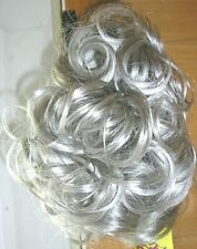 HARD TO FIND Curly Ponytail Clip In Hair Piece NWT Color SILVER GREY #59