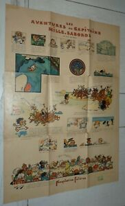 RARE AFFICHE PHOSPHATINE FALIERES 1910 CAPITAINE MILLE-SABORDS ANDRE DEVAMBEZ