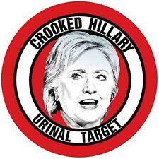 Hillary Clinton Anti President  Urinal Target  VFW   Travel Decal  Label Sticker