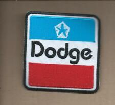 NEW 2 7/8 X 3 INCH DODGE MOPAR IRON ON PATCH FREE SHIPPING