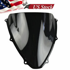 Windshield WindScreen Double Bubble For Suzuki GSXR 600/750 2006-2007 K6 Black