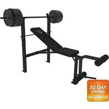 CAP Barbell Deluxe Bench With 100 Pound Weight Set Combo Home Fitness Workout